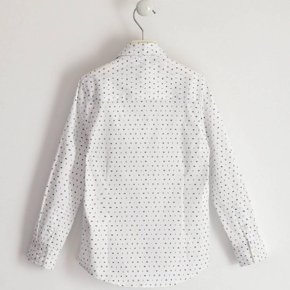 Рубашка для мальчика iDO подростка поплин с принтом 4.1702.00/6NV8