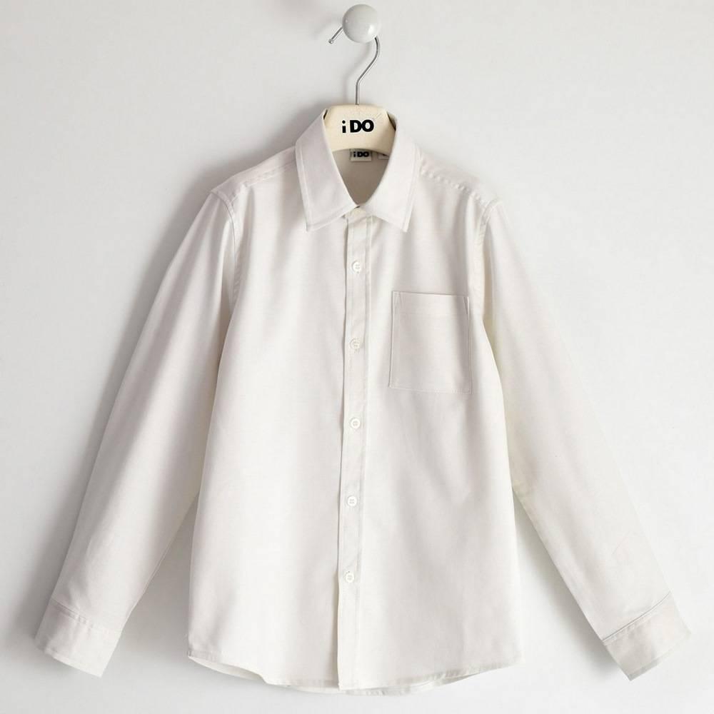 Рубашка для мальчика iDO подростка классика белая 4.1704.00/0113