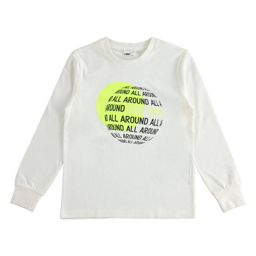 Реглан для хлопчика iDO подростка трикотаж хлопок принт 4.1710.00/0112
