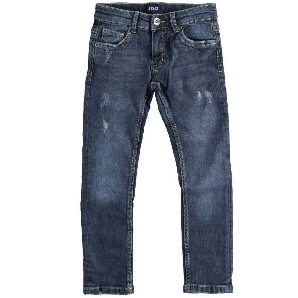 Джинсы для мальчика iDO зауженные выбеленные с царапинами 4.1750.00/7775