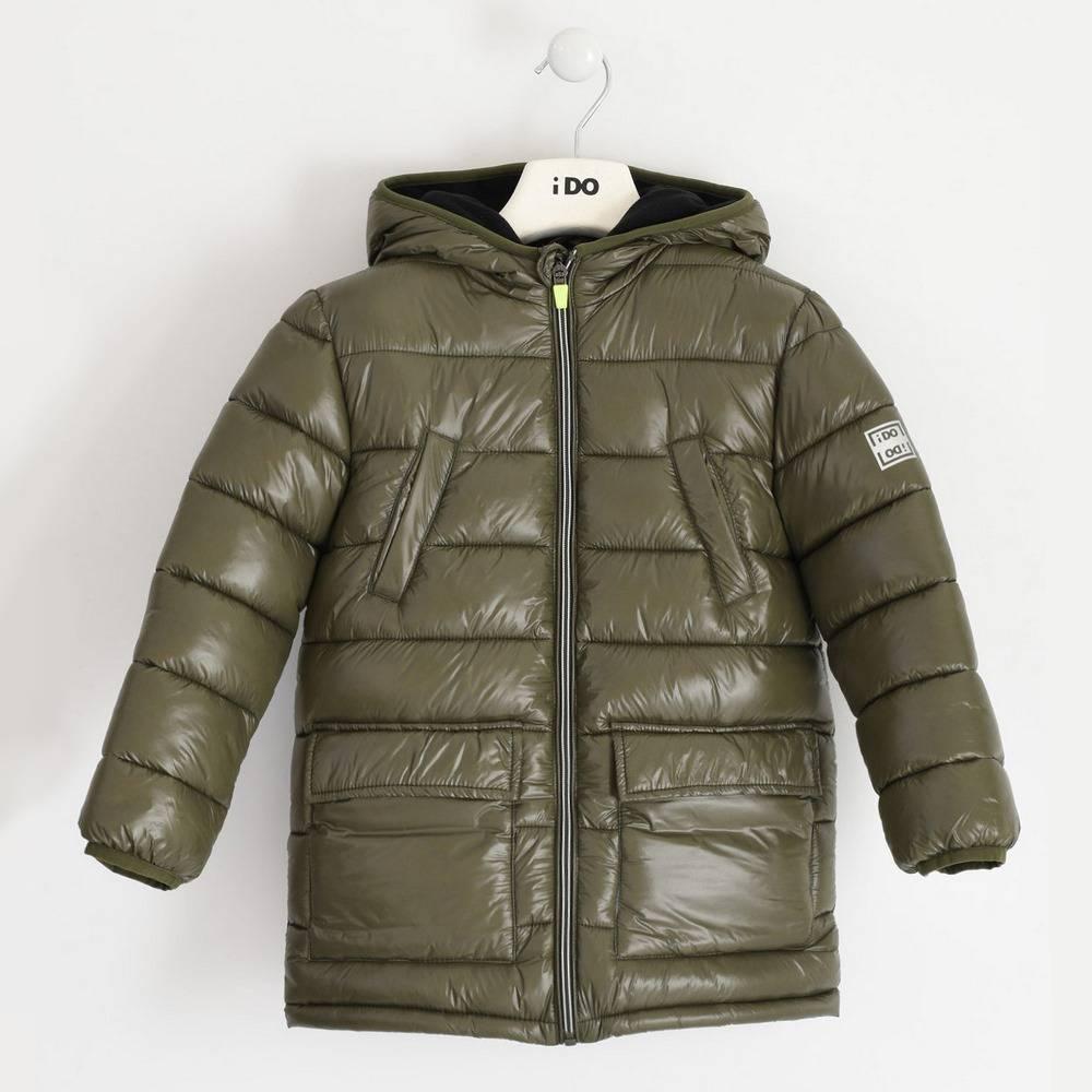 Куртка для мальчика iDO подросток демисезонная утепленная с капюшоном 4.1326.00/5557