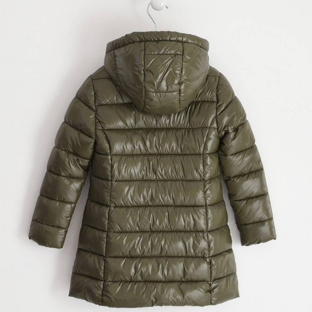 Пальто для девочки iDO подросток демисезонное утепленное стеганое с капюшоном 4.1397.00/5557