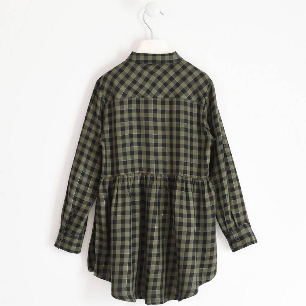 Рубашка для девочки iDO подросток клетчатая хлопковая 4.1910.00/5557