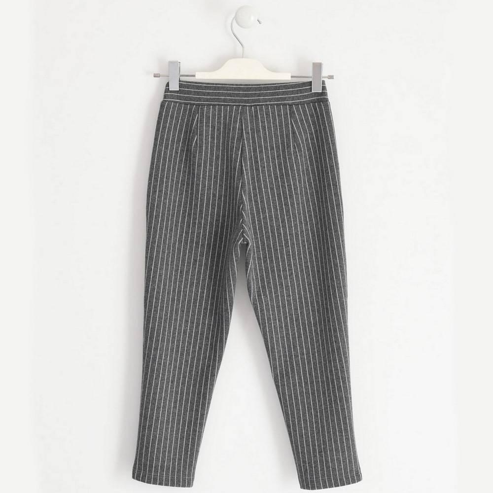 Брюки для девочки iDO подросток текстиль серый полосатый 4.1981.00/8445