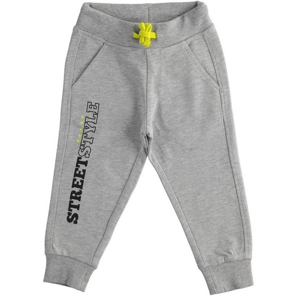 Штаны спортивные для мальчика iDO хлопок эластичный серый трикотаж на манжете 4.1331.00/8067