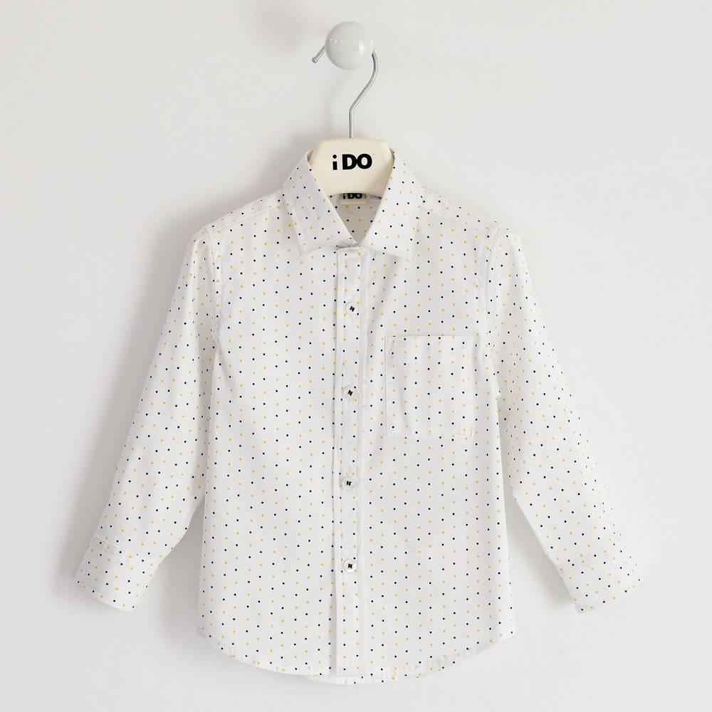 Рубашка для мальчика iDO поплин с принтом 4.1402.00/6NS6