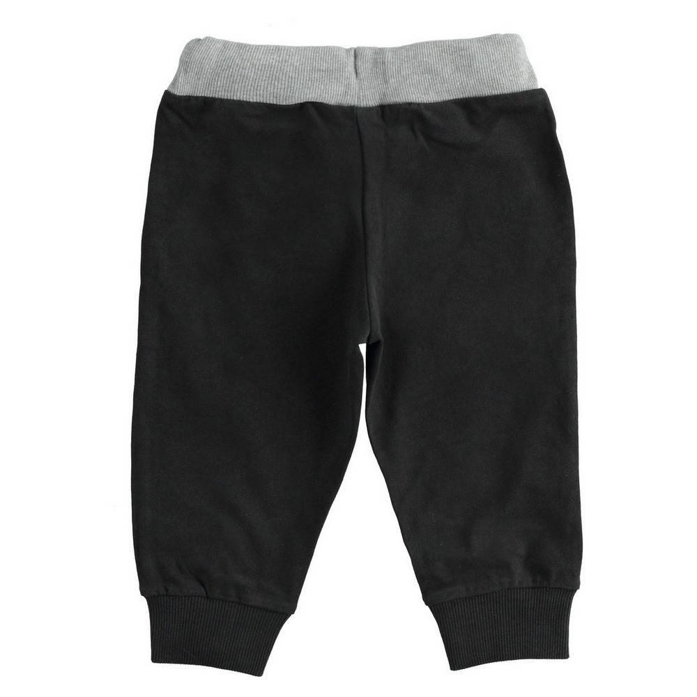 Штаны спортивные для мальчика iDO хлопок эластичный черный трикотаж на манжете 4.1444.00/0658