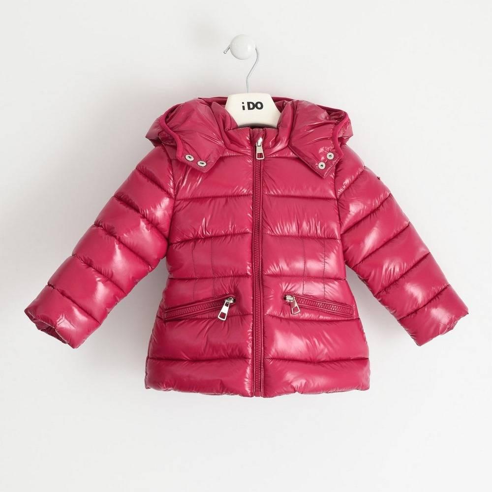 Куртка для девочек iDO розовый демисезонная утепленная стеганая с капюшоном 4.1691.00/2681