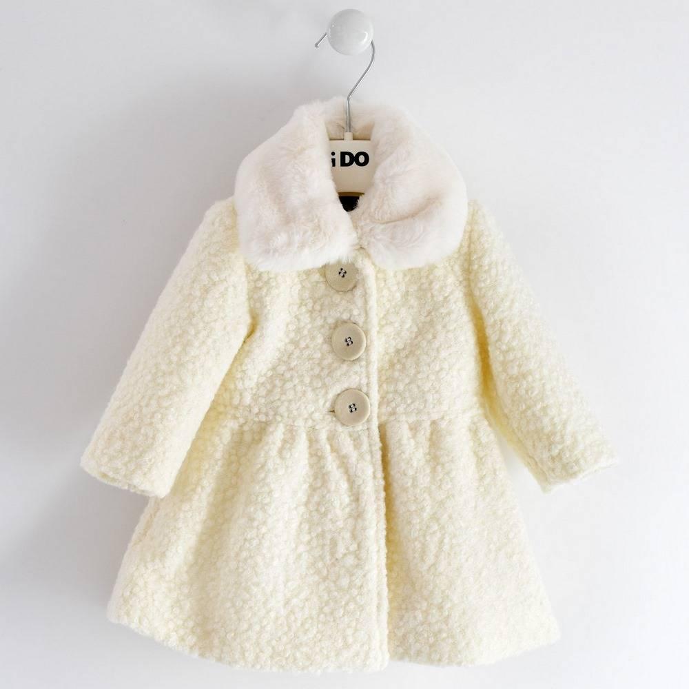 Пальто для девочки iDO текстиль букле 4.1697.00/0112