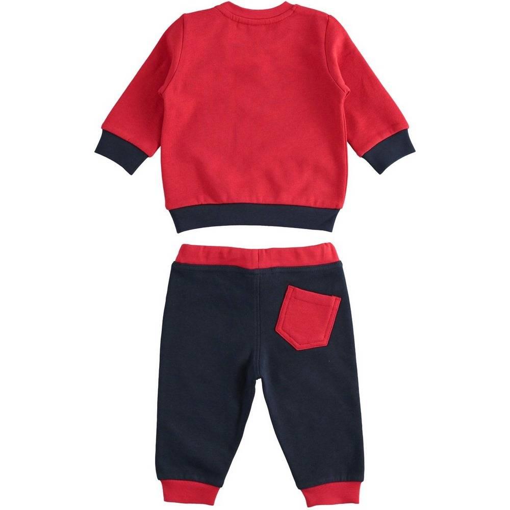 Комплект для мальчика iDO спортивный трикотажный свитшот штаны 4.1154.00/2253