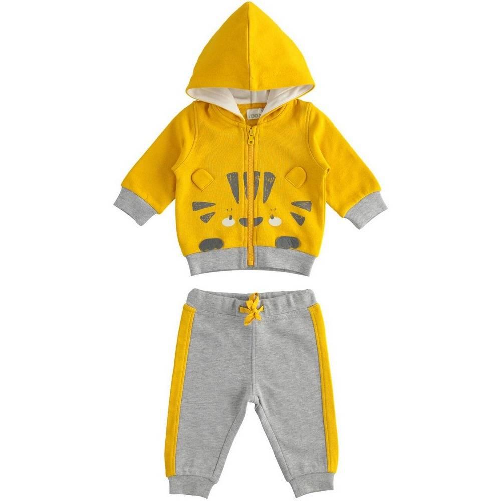 Комплект для мальчика iDO спортивный трикотажный толстовка з капюшоном штаны 4.1155.00/1615
