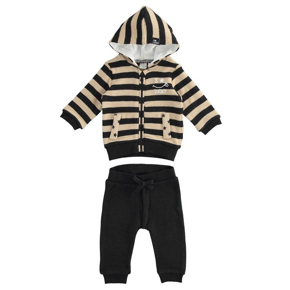 Комплект для мальчика iDO вязаный толстовка з капюшоном штаны 4.1159.00/0737