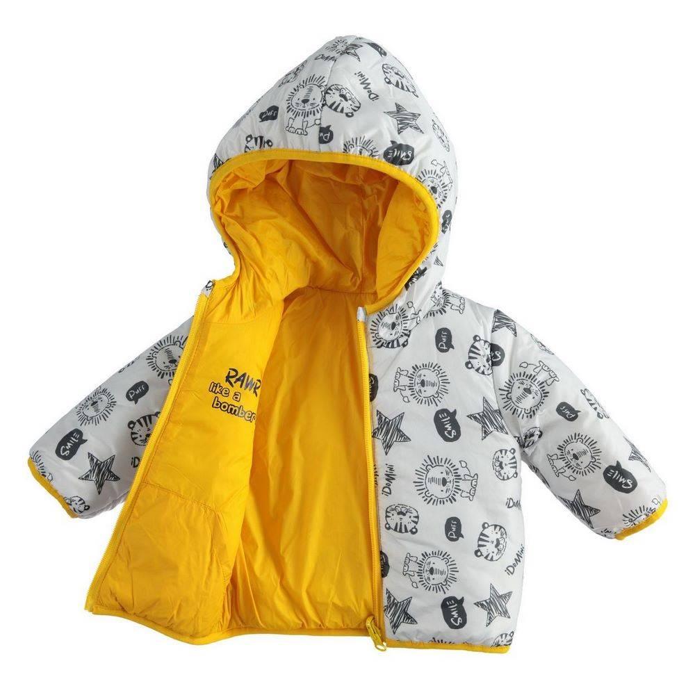 Куртка для мальчика iDO демисезонная двухсторонняя с капюшоном 4.1213.00/1615
