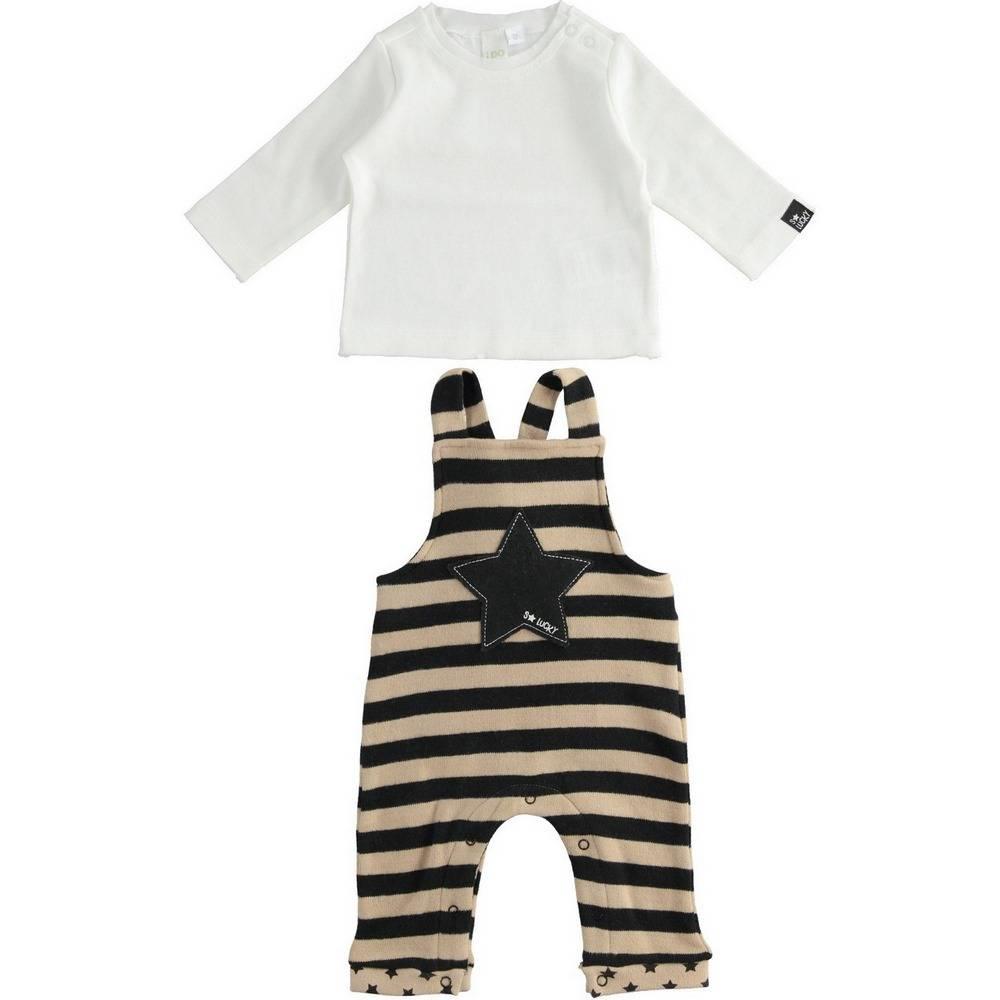Комплект для мальчика iDO комбинезон на шлейках реглан 4.1219.00/0737