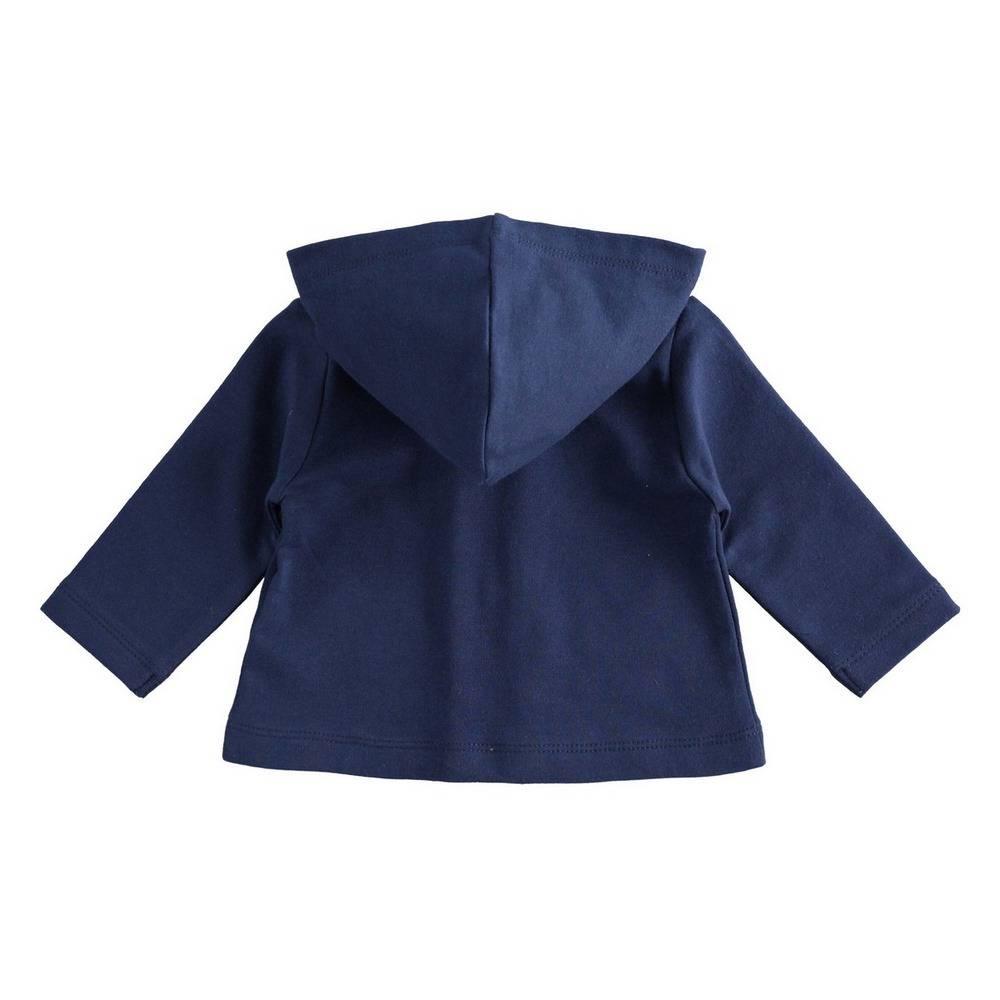 Толстовка для девочки iDO синий трикотаж капюшон 4.1236.00/3854