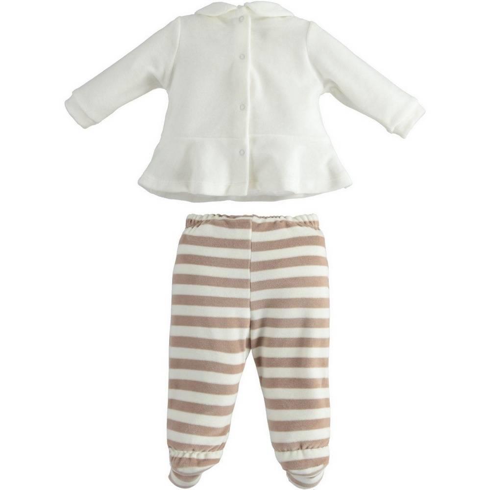 Комплект для девочки iDO велюровый для новорожденной реглан ползунок 4.1245