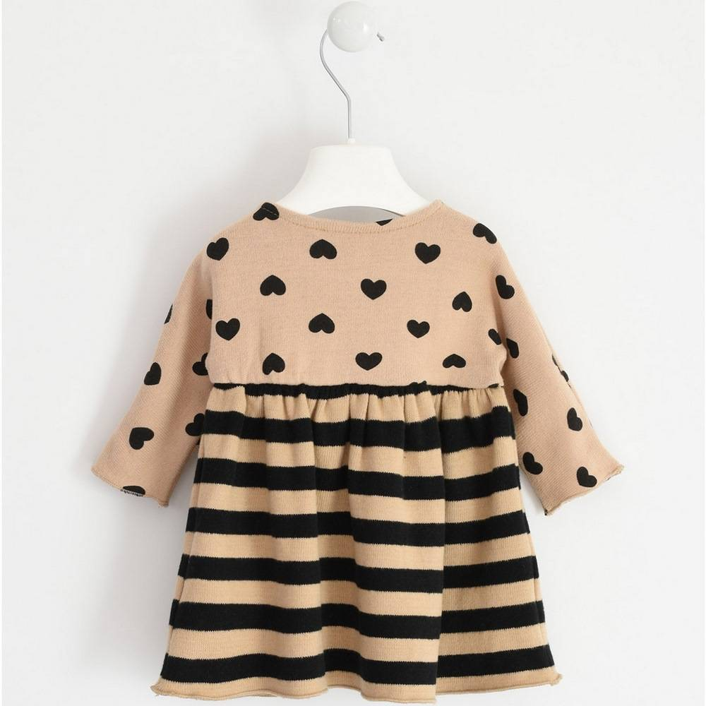 Платье для девочки iDO вязанное с рукавами бежевый 4.1258.00/6NG7