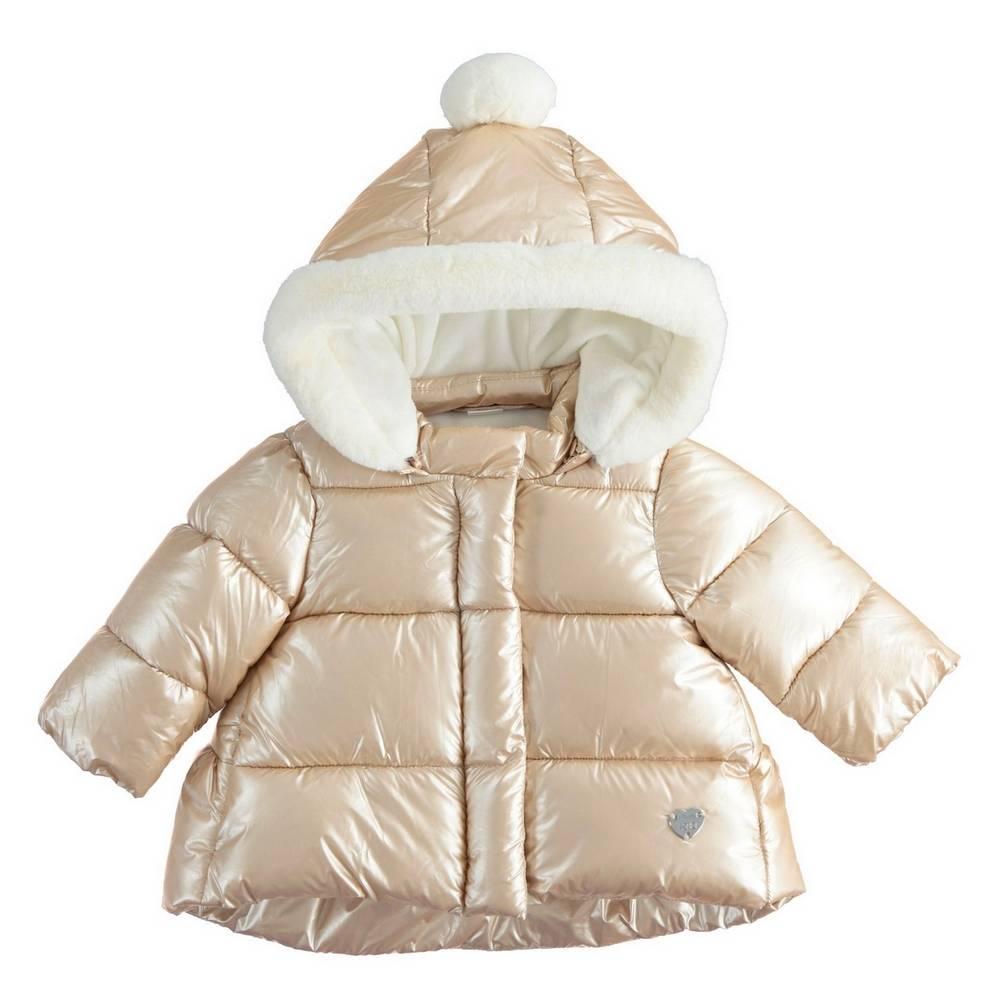 Куртка для девочки iDO демисезонная стеганная с капюшоном 4.1290.00/0941