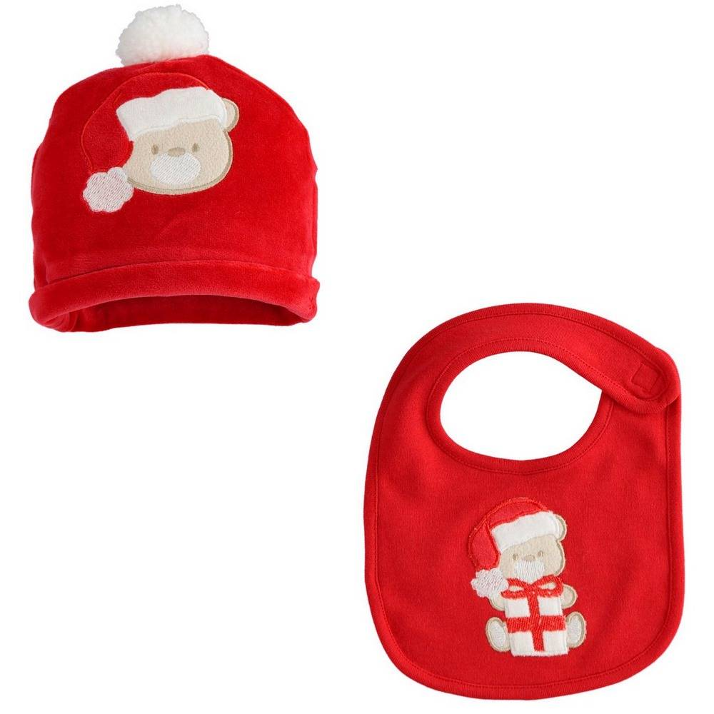 Комплект детский iDO шапка и слюнявчик велюровый 4.1087.71/2253/TU