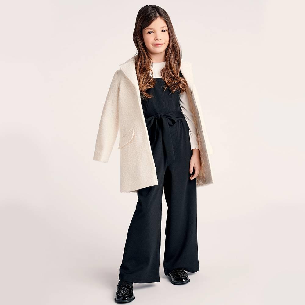 Пальто для девочки iDO подросток текстиль букле 4.1983.00
