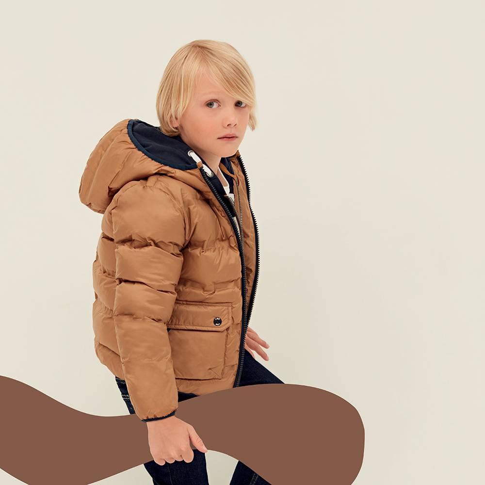 Куртка для мальчика iDO подросток демисезонная утепленная стеганая с капюшоном4.1793.00/0818