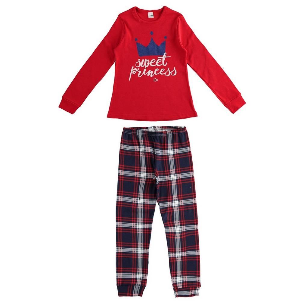 Пижама для девочки iDO демисезонная хлопок трикотаж принт 4.1555.00/2043