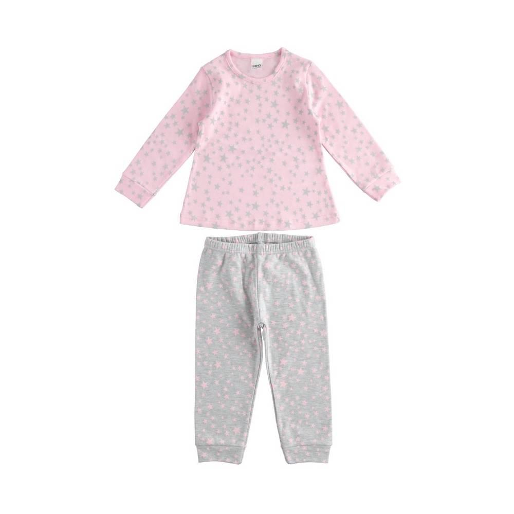 Пижама для девочки iDO демисезонная хлопок трикотаж принт 4.1557.00/1014