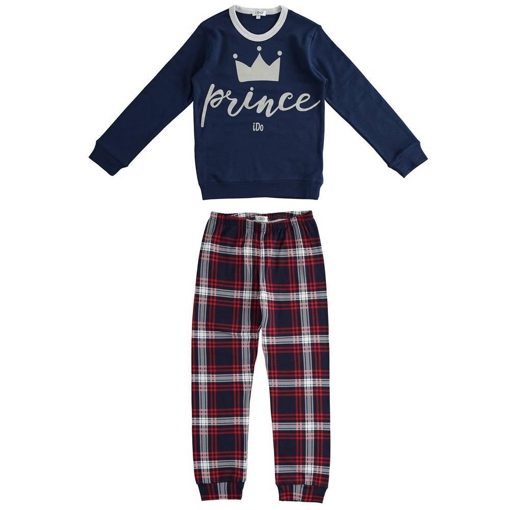 Пижама для мальчика iDO демисезонная хлопок трикотаж принт 4.1553.00/1615