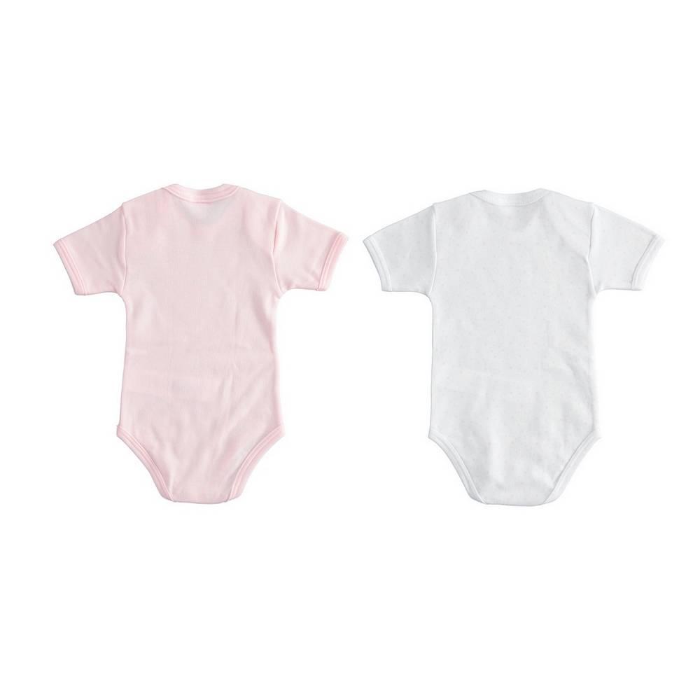 Боди комплект для девочки iDO летний короткий рукав хлопок трикотаж 4.1563.00/5819