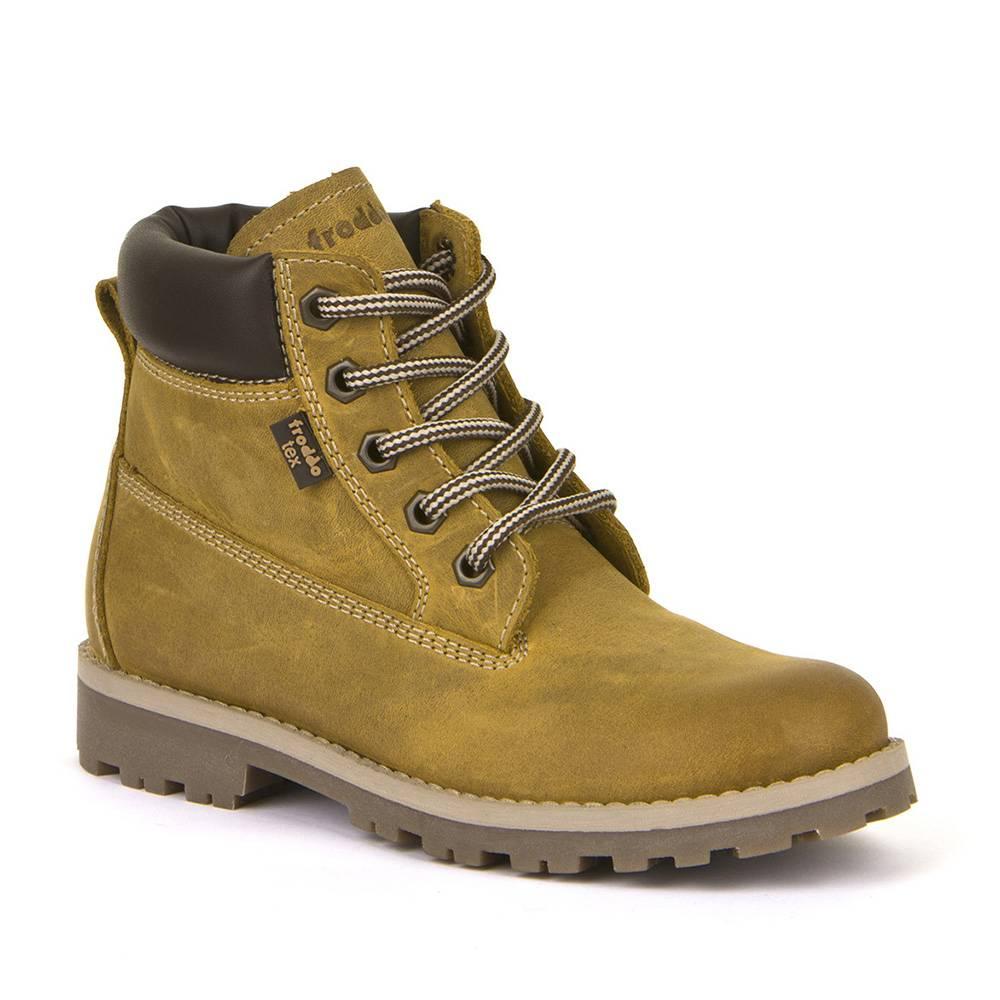 Ботинки детские Froddo демисезонные на молнии на шнурках FRODDO TEX G3110155/yellow