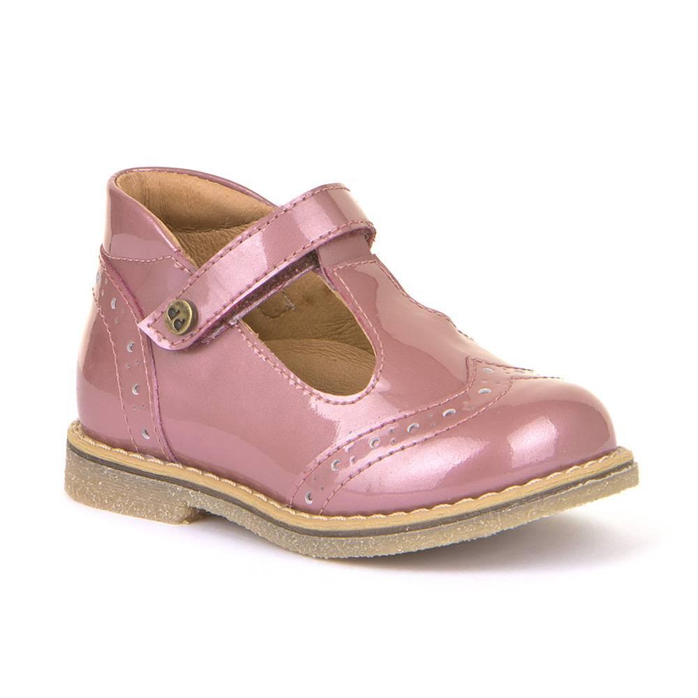 Туфли для девочки Froddo лакированная натуральная кожа на перепонке кожаная стелька G2140049-1/PinkPatent