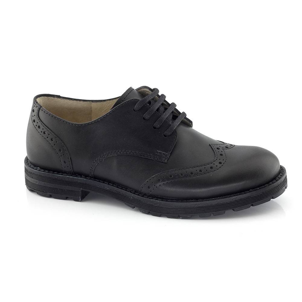 Туфли для мальчика Froddo классика на шнурках натуральная кожа G4130069/Black