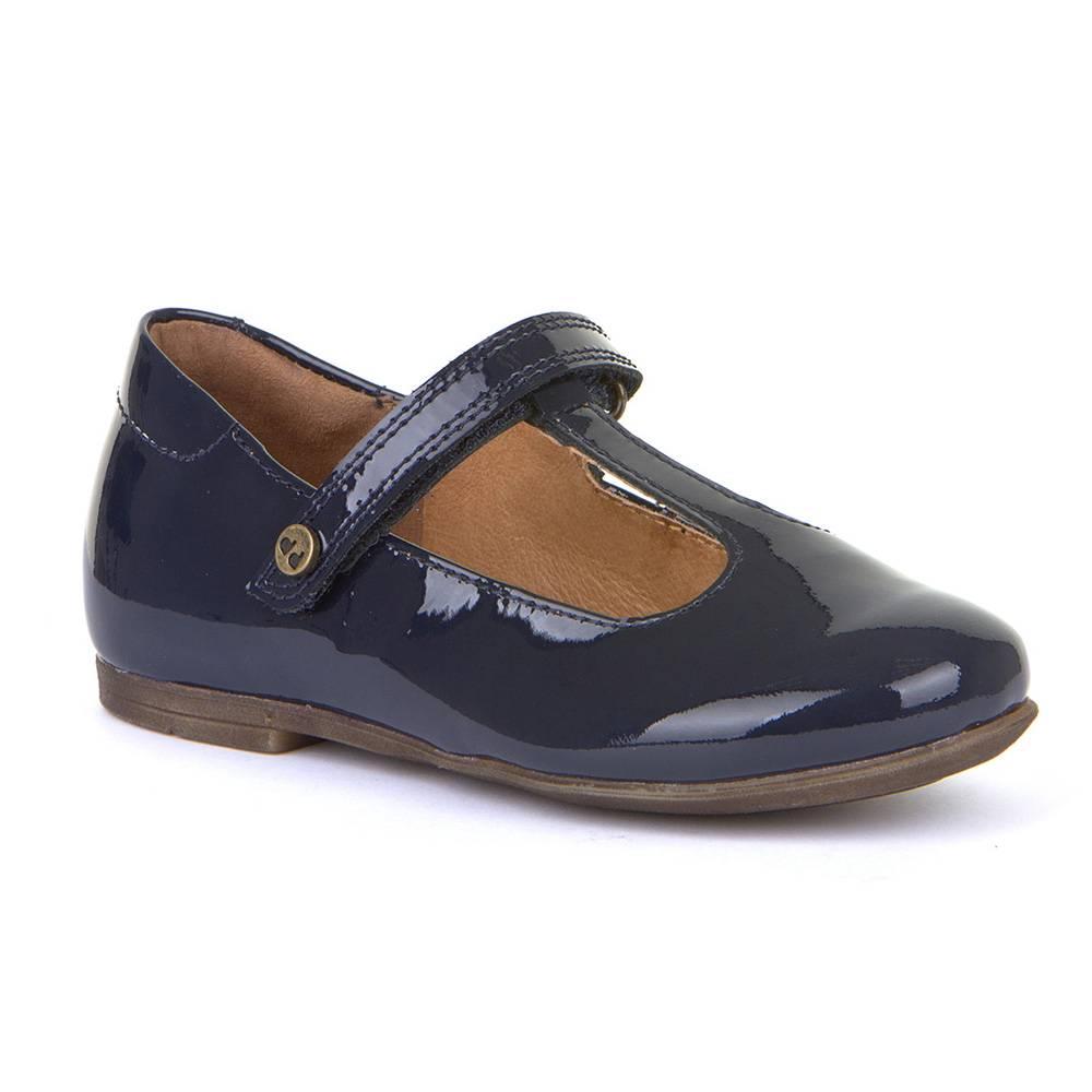 Туфли для девочки Froddo натуральная лакированая кожа на перепонке кожаная стелька G3140106-3/Bluepatent