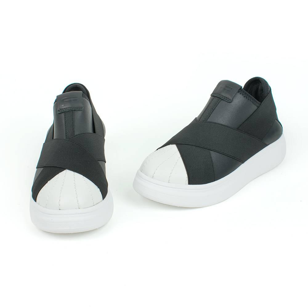 Кроссовки для девочки FESSURA демисезонные белые KID101/skin_black