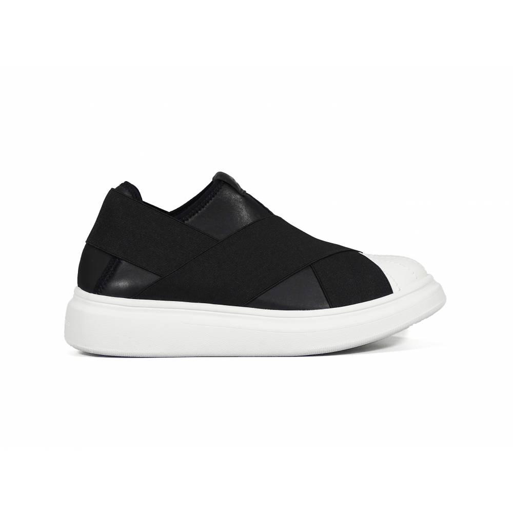 Кроссовки для девочки FESSURA демисезонные черные KID101/skin_black