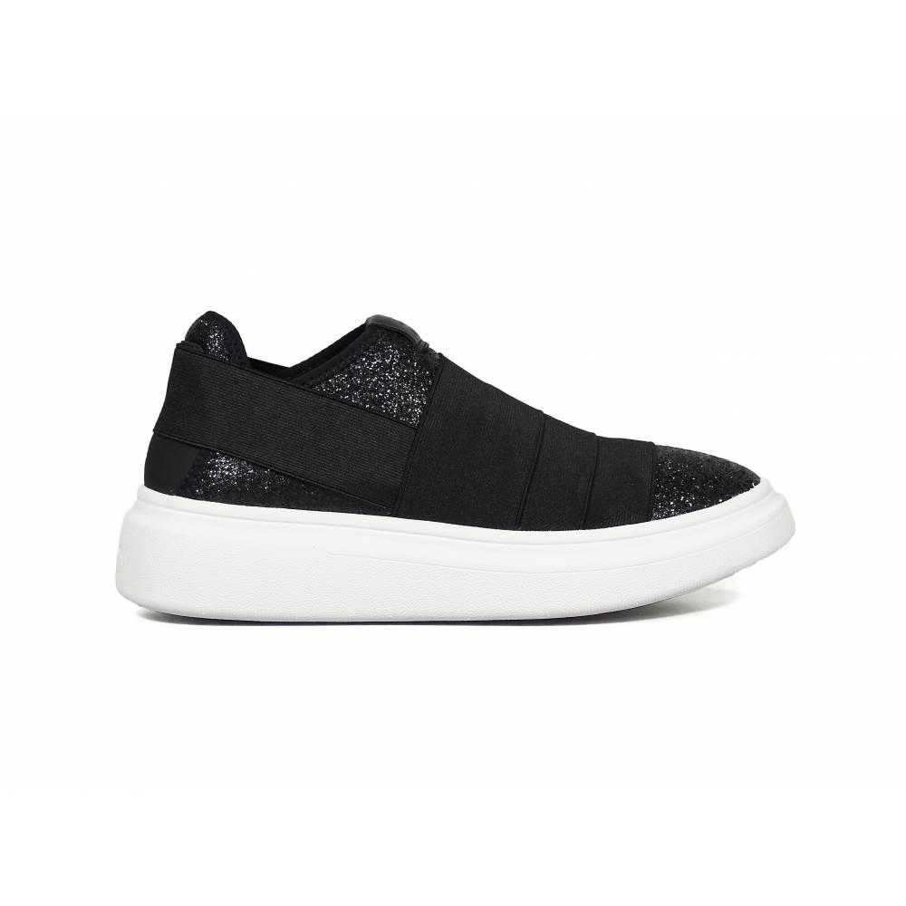 Кроссовки для девочки FESSURA демисезонные черные KID102/black_starry