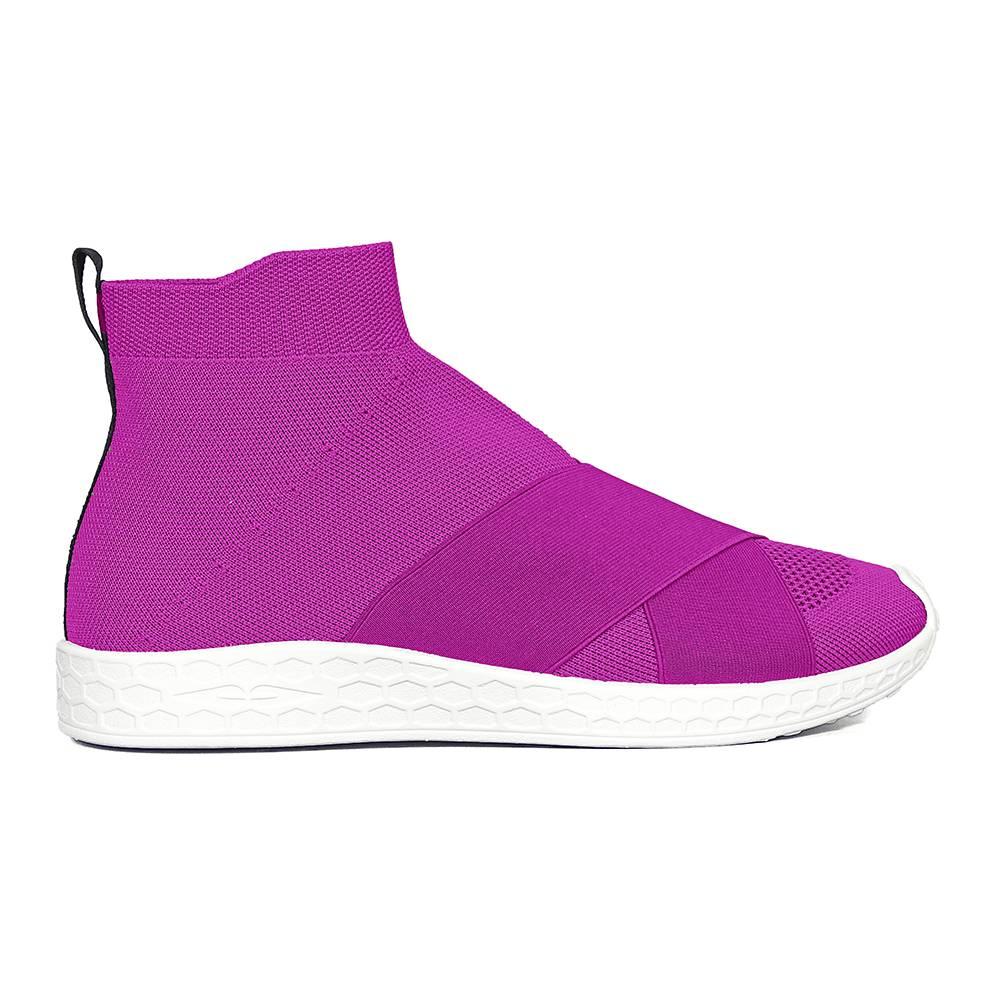 Ботинки для девочки FESSURA демисезонные фукция RUNGANG KNIT KID037/fuxia