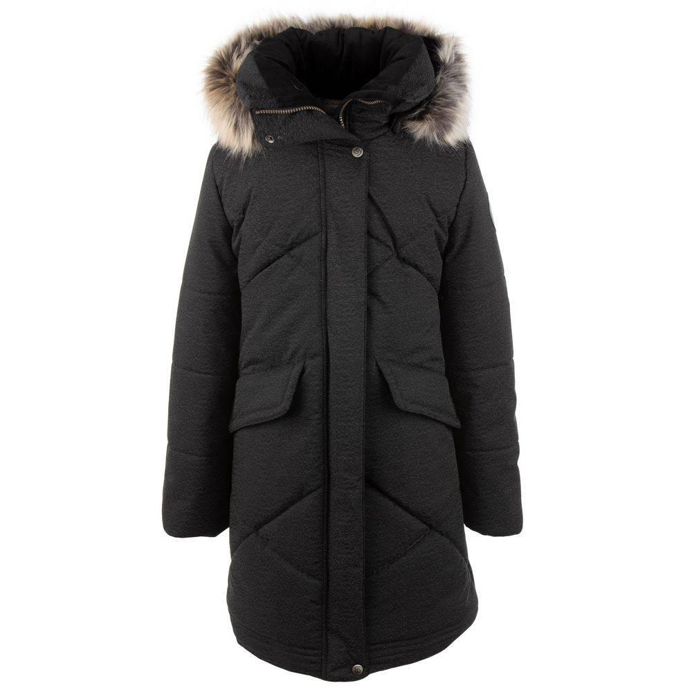 Пальто для девочки LENNE зимнее капюшон меховая подкладка ткань Aktive DOREEN 20365