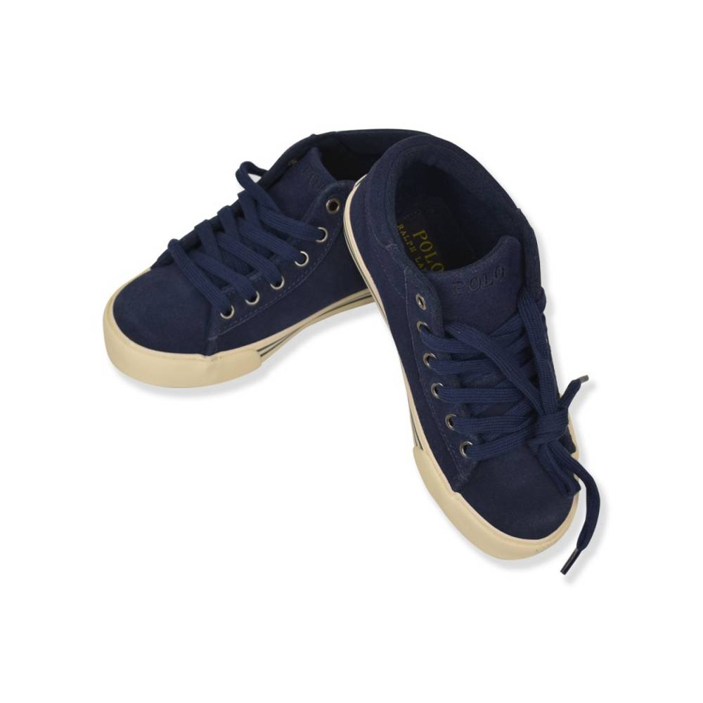 Кроссовки детские POLO демисезонные синий шнурки 993572/Navy_Suede