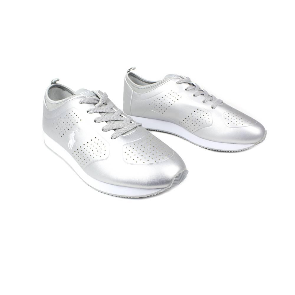 Кроссовки POLO для девочки демисезонные белый шнурки RF100280/WHITE