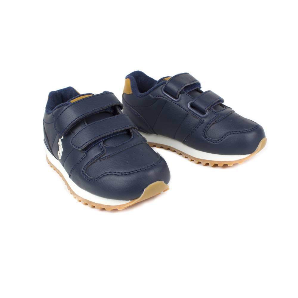 Кроссовки детские POLO мальчики демисезонные синий липучки RF101175/NAVY