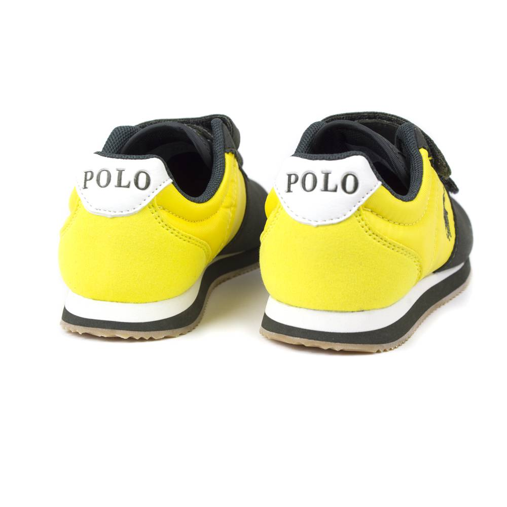 Кроссовки детские POLO мальчики демисезонные липучки RF101182/green_gold