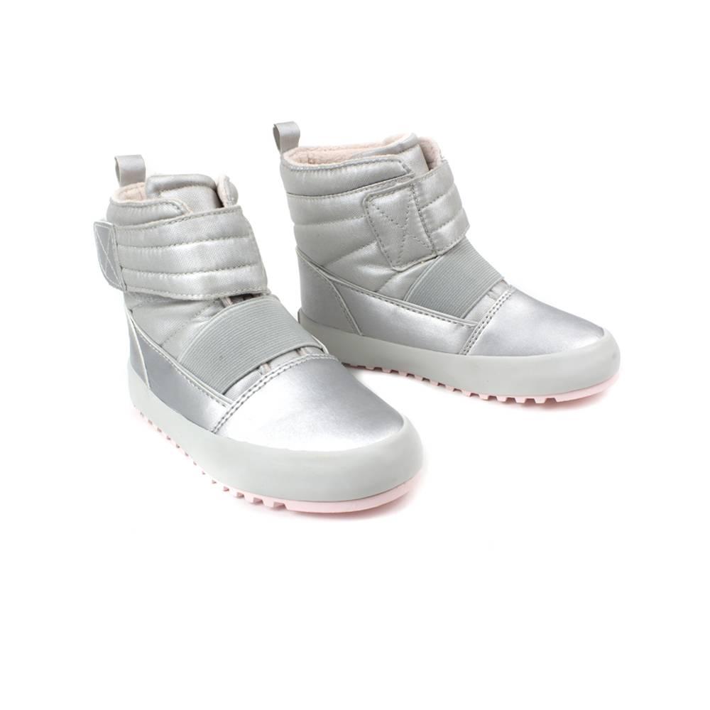 Сапоги POLO для девочки демисезонные серебро липучки RF101231/Light_pink