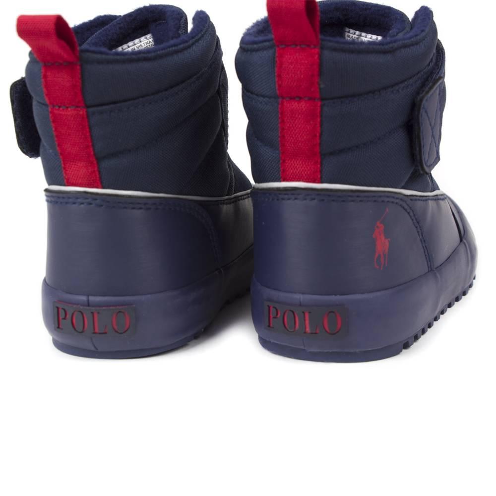 Сапоги POLO для девочки демисезонные черный липучкиRF101232/red