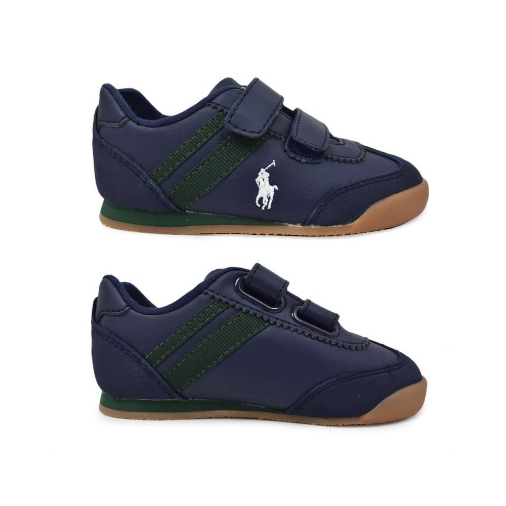 Кроссовки POLO для мальчика демисезонные синий липучки RF101780/NAVY_SMOOTH