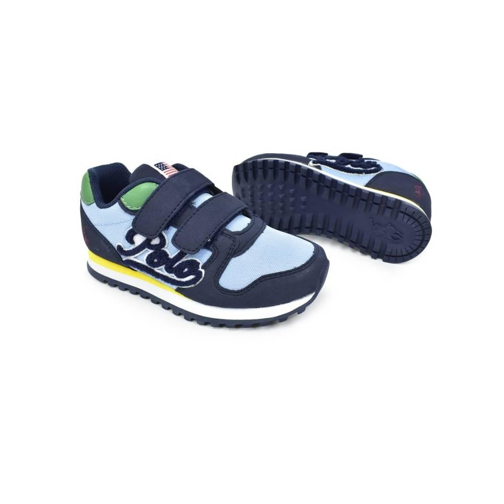 Кроссовки POLO для мальчика демисезонные мульти липучки RF102079/NAVY_MICROSUEDE