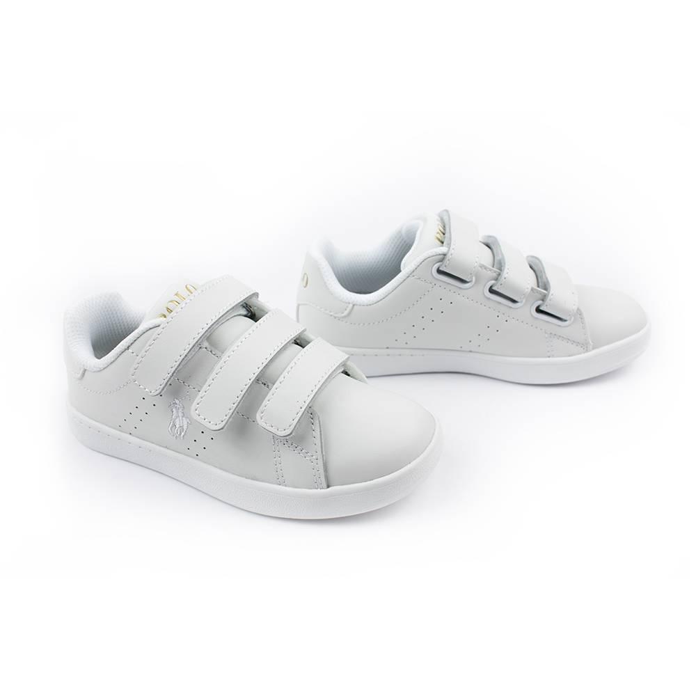 Кроссовки POLO для девочек демисезонные белый на липучках RF100764/WHITE