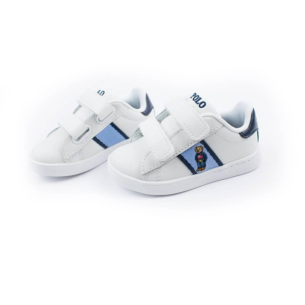 Кроссовки POLO для мальчика демисезонные белый на липучках RF100769/BLUE_NAVY