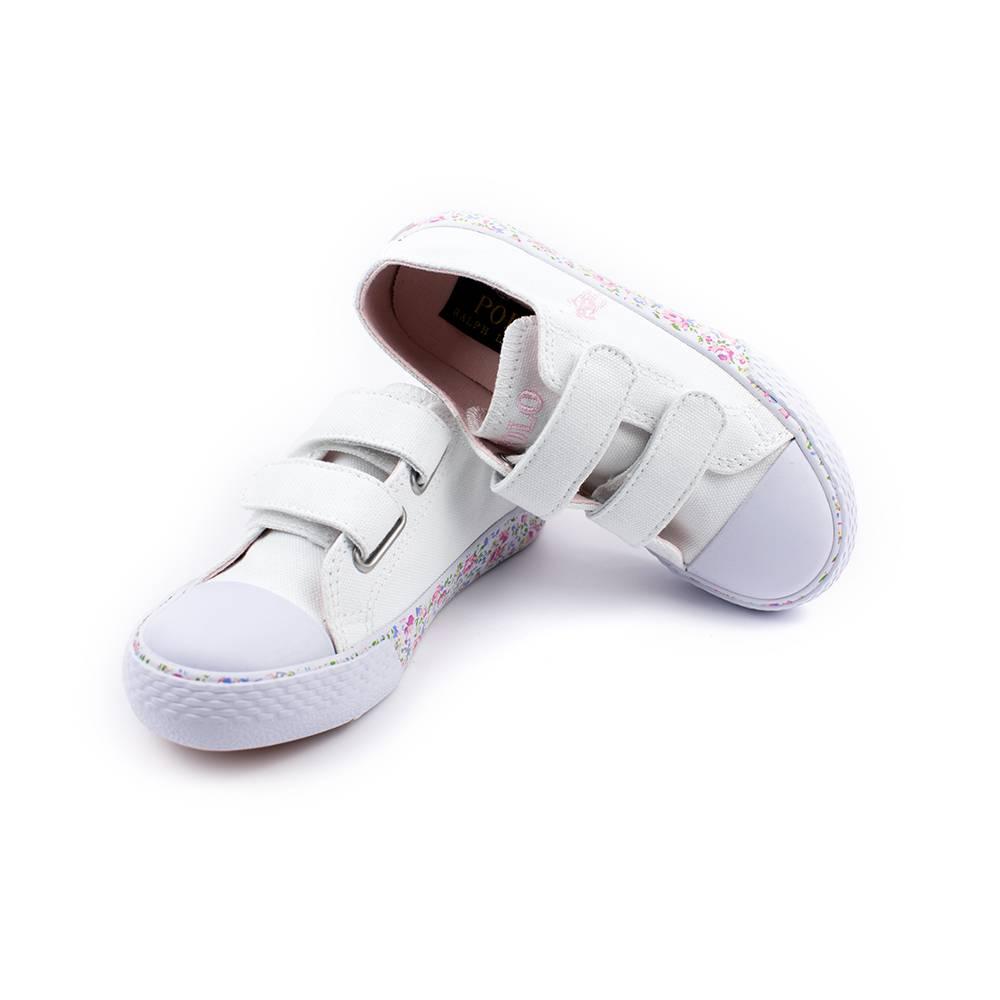 Кроссовки POLO для девочек демисезонные белый на липучках RF100831/WHITE