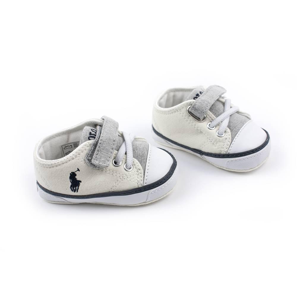 Кроссовки POLO для мальчика демисезонные мульти на липучках RL100191/OATMEAL_GREY